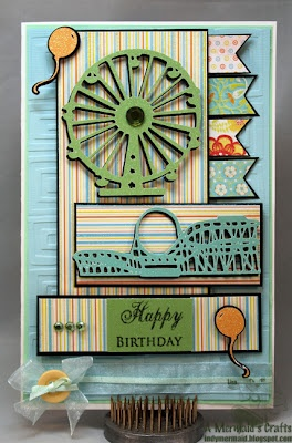 Carnival birthday card featuring K Andrew Designs Fall-O-Ween and Coffee & Tea for You & Me stamp sets