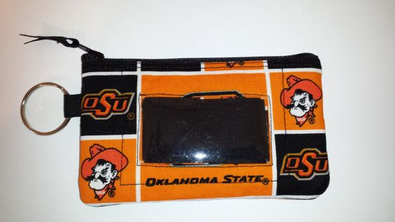 Oklahoma State University Zip ID pouch by TeresaScholleDesigns