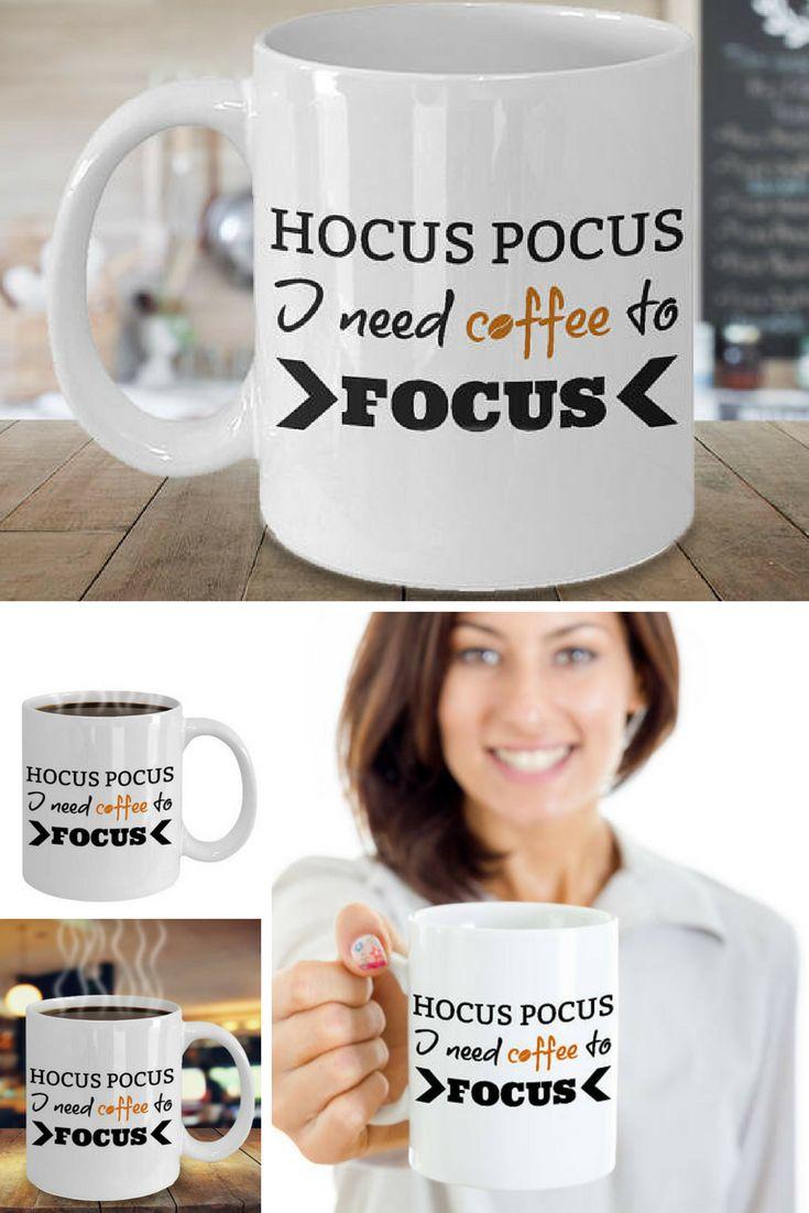 Hocus Pocus Mug, Coffee Mug, Coffee Lovers Gift, Coffee Lover, Magic Mug, Coffee Cup, Funny Coffee Mug, Funny Mugs, Funny Coffee Cups #Etsy #EtsyMugs #SuchMugs