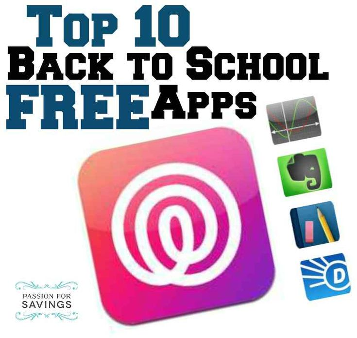 Top 10 FREE Back to School Apps. #elearning #edtech #education