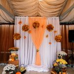 decor of wedding ceremony.