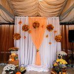 decor of wedding ceremony.