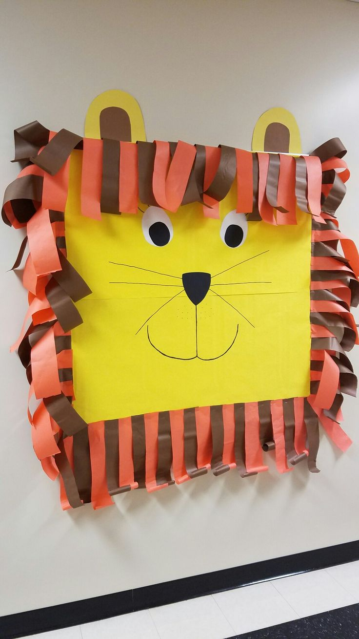 Lion bulletin board