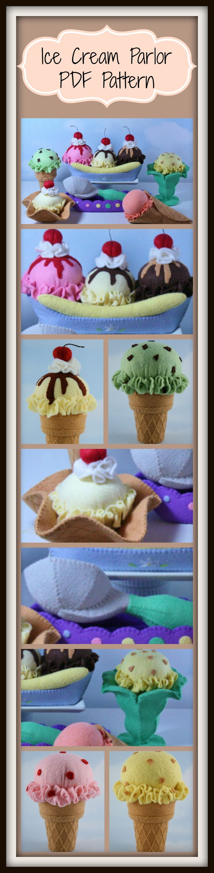 Ice Cream Parlor Instant Download PDF Pattern