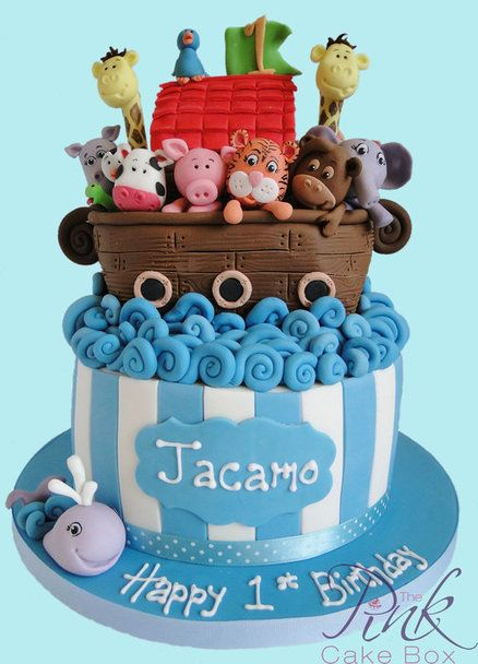 Noah's Ark Cake - by RoseAtThePinkCakeBox @ CakesDecor.com - cake decorating website