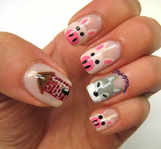 The Three Little Pigs And The Big Bad Wolf Nails