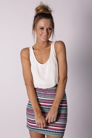 cute: Summer Dresses, Cocktails Dresses, Patterns Skirts, Summer Outfits, Summer Clothing, Cute Skirts, Cosmic Clothing, Style Fashion, Tribal Patterns