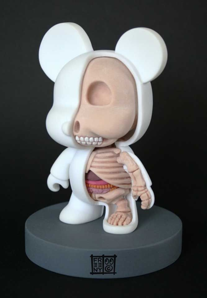 Above: MiniQee Character Sculpture by Jason Freeny.