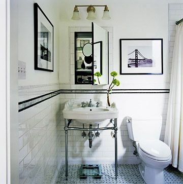 116 Best Black U0026 White Bathrooms Images On Pinterest | Room, Bathroom Ideas  And Bathroom Remodeling Part 70