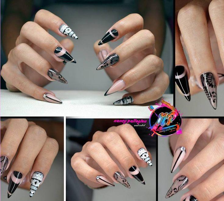 Acrylic Boho Style Stunning Nails