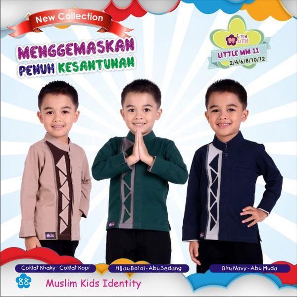 Baju Koko Anak Little Mutif Boy LMB-11