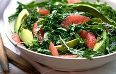 Kale and Pink Grapefruit Salad - Bon Appétit.  Will try as side for lobster tails.