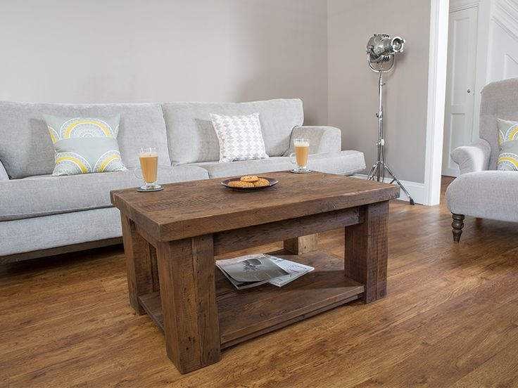 Hudson Reclaimed Wooden Coffee Table With Shelf #eatsleeplive #rustic  #livingroom