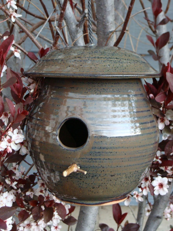 Ceramic Birdhouse by JeremiahMahurin on Etsy, $38.00