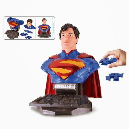 BLOG DOS BRINQUEDOS: Justice League Superman Bust 3-D Puzzle