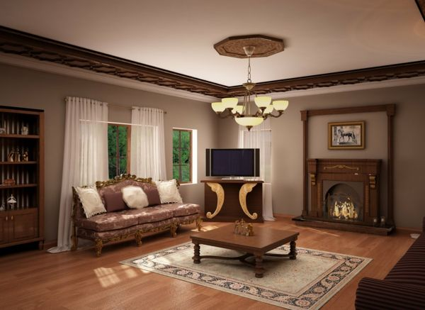 Braunes Wohnzimmer Beispiele Kleines Nesttisch