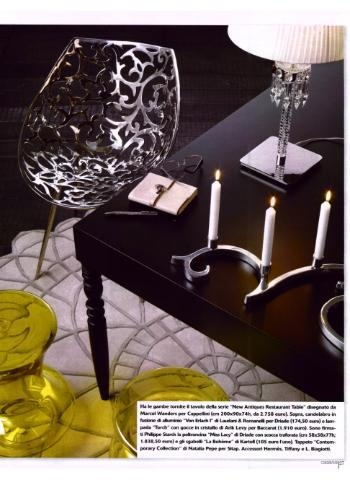 CAPPELLINI New Antiques Restaurant Table by Marcel Wanders