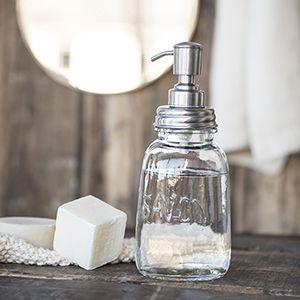 Distributeur de savon liquide en verre et inox IB Laursen