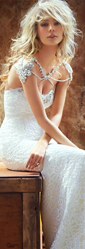 Outstanding wedding dress | Hayley Paige Blush Bridal carries this line ;)