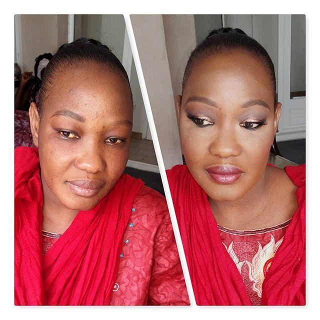 Before / after pour ma jolie cliente qui était de mariage ce week end 💄  Rendez-vous par mail ou sur mon site www.beautysweetmakeup.fr   #makeup #maquillage #paris