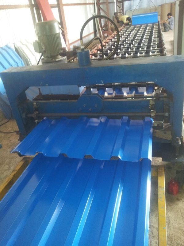 We are indulged in the manufacturing and exporting of Corrugated Sheet Roll Forming Machine. These products are designed to reduce man power and stable steel base design. These machines are used in industrial sectors and are available in market at Competi