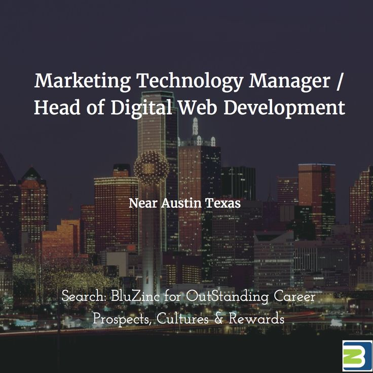 CTO / #Technology Manager for #Marketing #Career #Georgetown #Austin #Texas