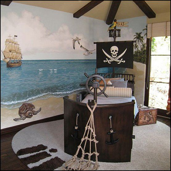 Decorating theme bedrooms - Maries Manor: pirate bedrooms - pirate themed furniture - nautical theme decorating ideas - Peter Pan