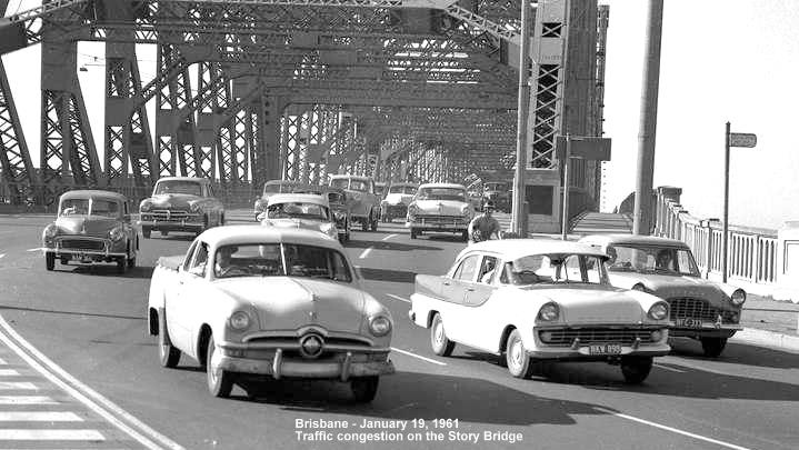 The Brisbane Traffic off the Story Bridge