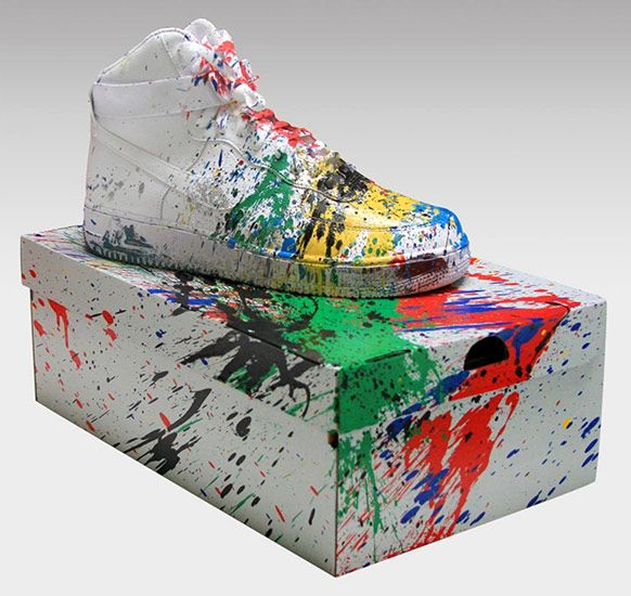 Nike Air Force One. #mr_brainwash http://www.widewalls.ch/mr-brainwash-just-did-it-13-nike-air-force/