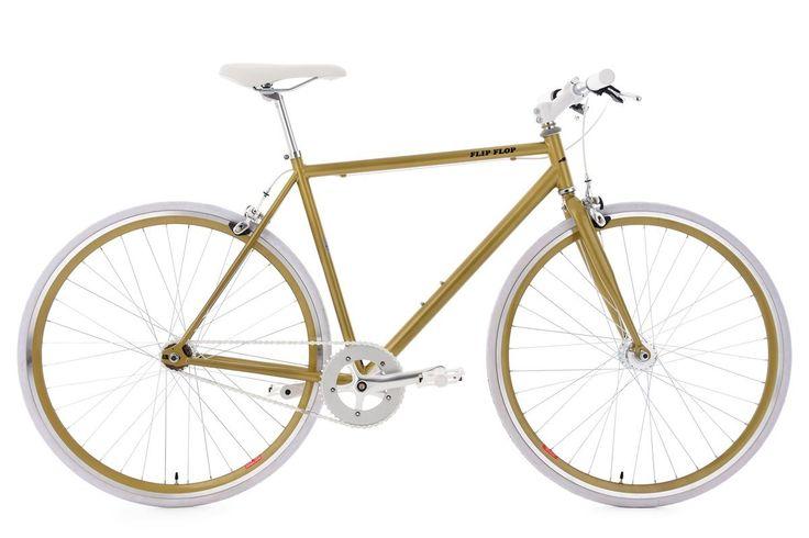 KS Cycling Fitnessbike Flip Flop RH 53 cm Fahrrad, Gold-Weiß, 28: Amazon.de: Sport & Freizeit