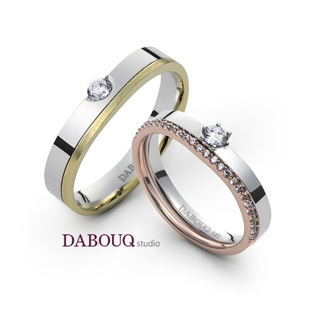 Dabouq Studio Couple Ring - DR0006 - Simple+