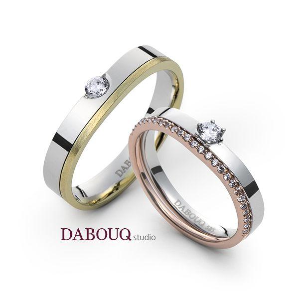 Dabouq Studio Couple Ring - DR0006 - Simple+