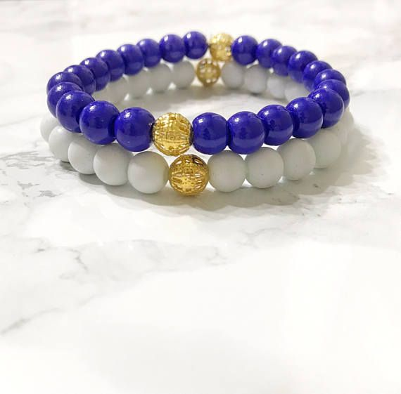golden state warriors jewelry, blue and white bracelet, game day outfit