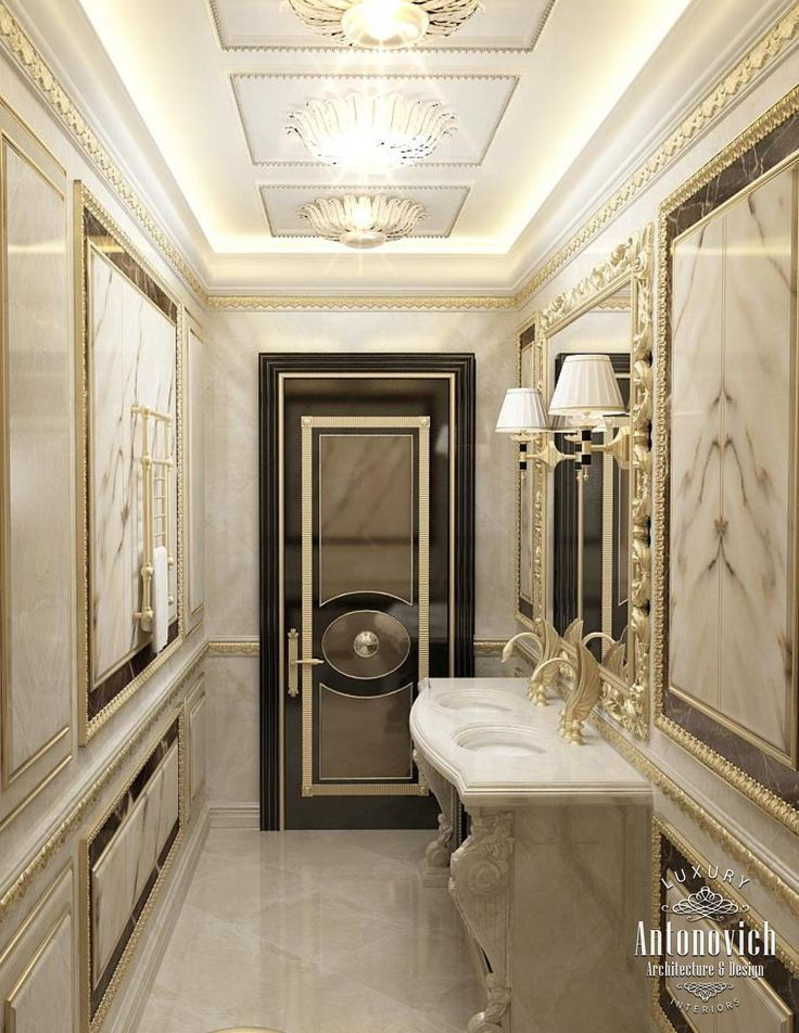 10 best images about luxury dream home bathrooms powder for Villa interior design dubai