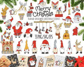 Christmas ClipArt Christmas SVG Santa Claus clipart Funny Christmas card Digital Christmas New Year ClipArt Christmas Scrapbook Sticker