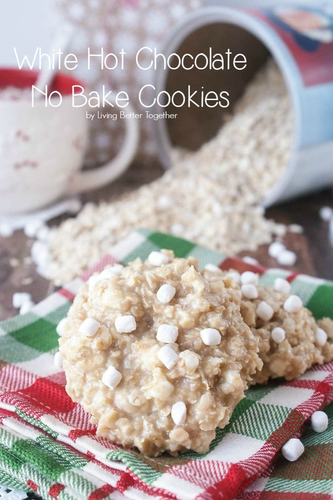 These White Hot Chocolate No Bake Cookies are so simple to make, they're nut and gluten free and Santa is sure to love them!  #QuakerUp #MyOatsCreation #spon