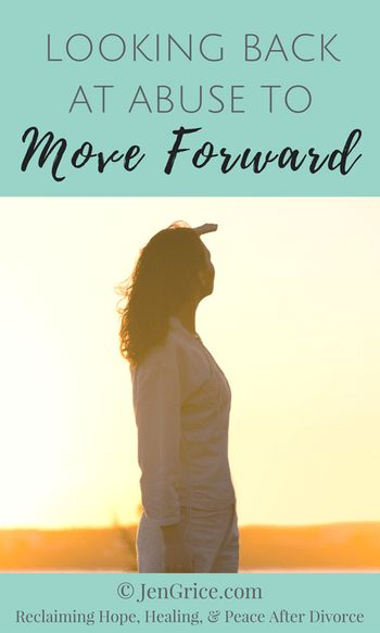 In order to move forward in my divorce healing, I had to look back at the pattern of abuse that became my normal. I learned my assertive rights and then I was able to move on to a healthier, more peaceful life.