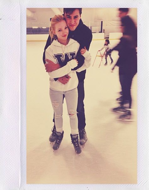 Nice Photo Of Ryan McCartan And Dove Cameron Ice Skating October 25, 2013-i think this is romance