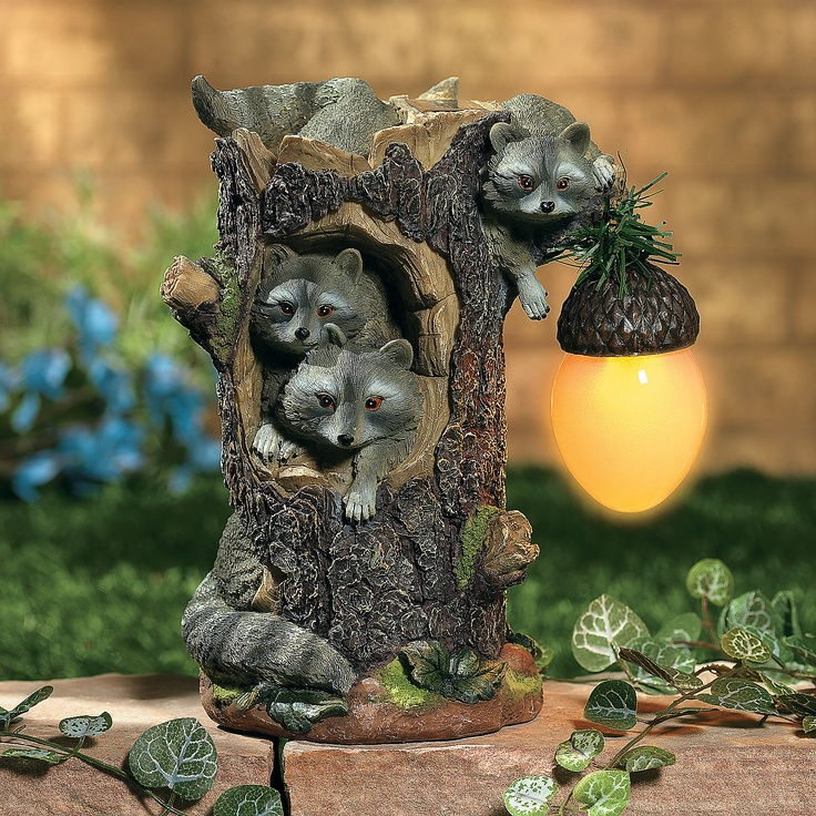 152 best images about raccoon decor on pinterest log furniture sculpture and garden statues How to keep raccoons out of garden