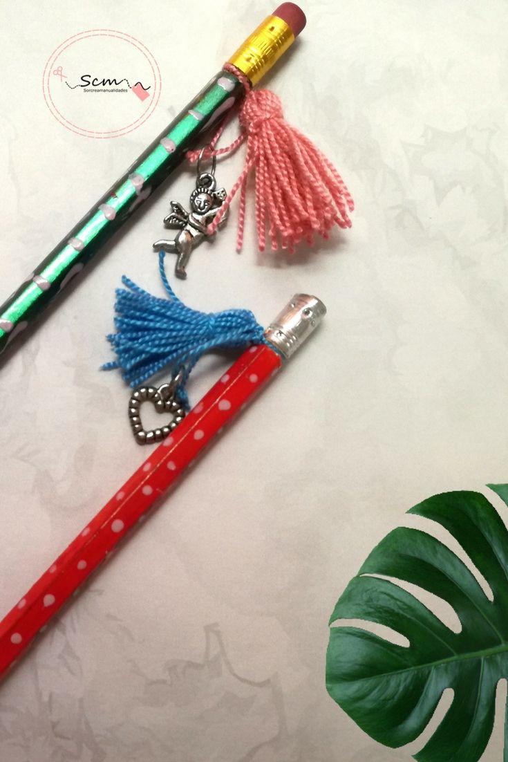 Manualidades de Regreso a Clases reciclando lápices decorando y personalizando.