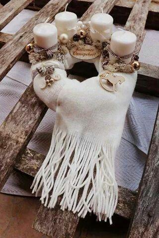White advent wreath