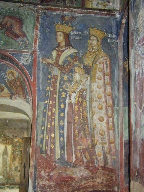 Marco voievod, doamna Ruxandra și domnița Zamfira (Bolnita Coziei)