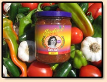 Mexican food - Hot and Mild Salsa, Red or Green Chile Sauce and Pork or Red Chile Tamales from Sadie's of New Mexico