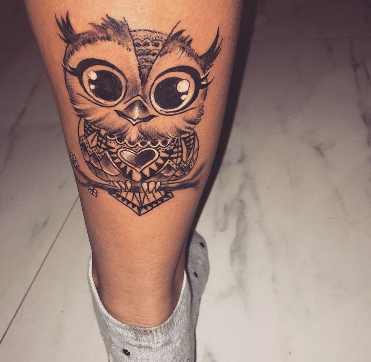 mein neuer kleiner freund :) #owltattoo #tattoo