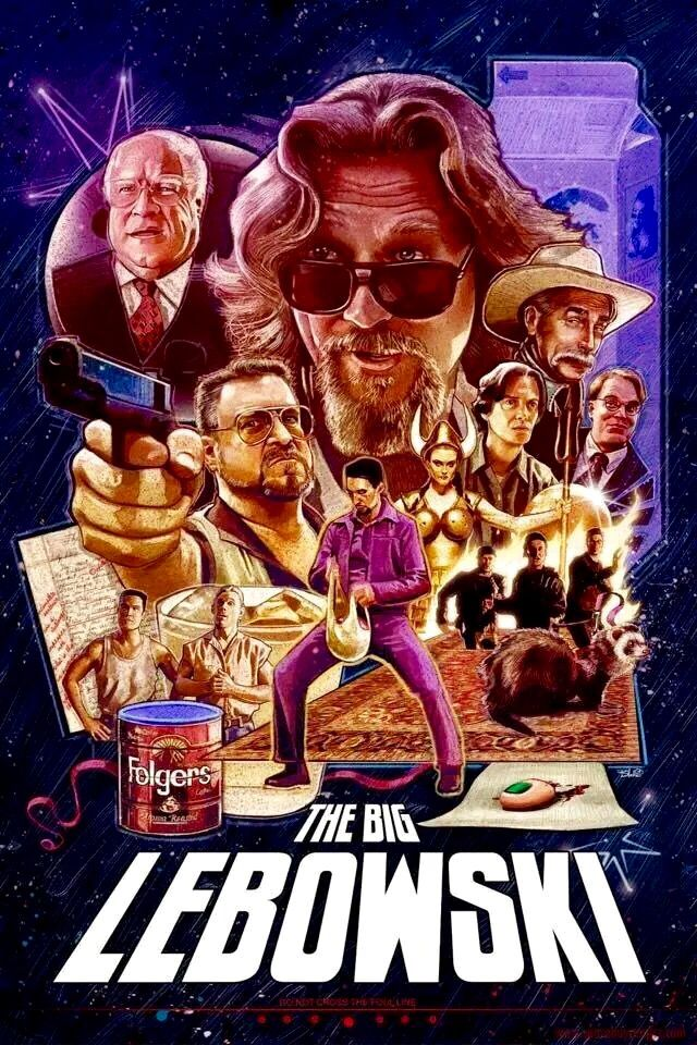 "The Big Lebowski (1998) ""The Dude"" Lebowski, mistaken for a millionaire Lebowski, seeks restitution for his ruined rug and enlists his bowling buddies to help get it."