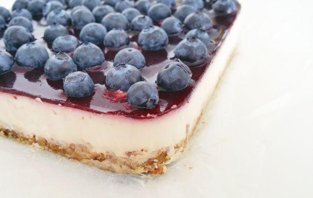 Bosbessen Griekse yoghurt taart, met wat aanpassingen koolhydraatarm te maken