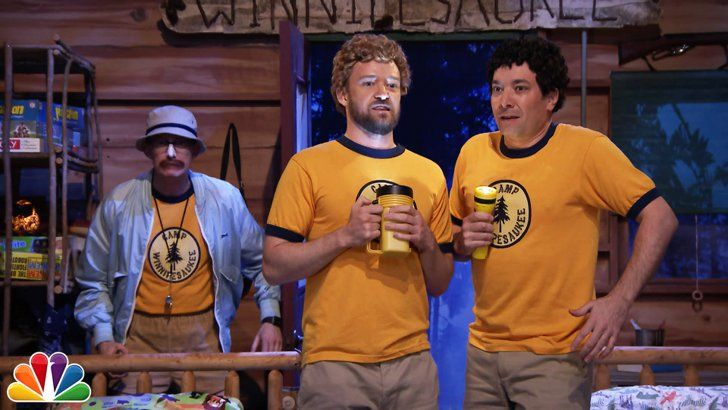 Pin for Later: 16 Times Jimmy Fallon and Justin Timberlake's Quirky Friendship Brightened Your Day When They Pretended to Be Kids at Summer Camp