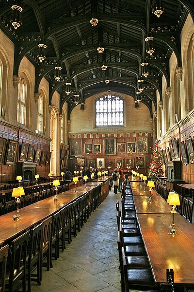 The Hall of Christ Church in Oxford, England, the inspiration for the studio film set of the main hall of Hogwarts.
