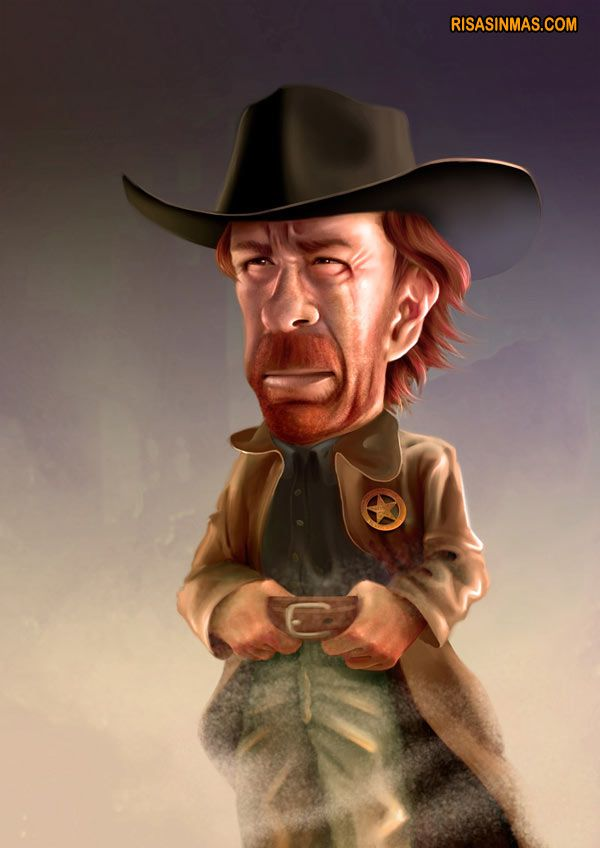 Chuck Norris Male Caricature, Movie Star - http://dunway.us