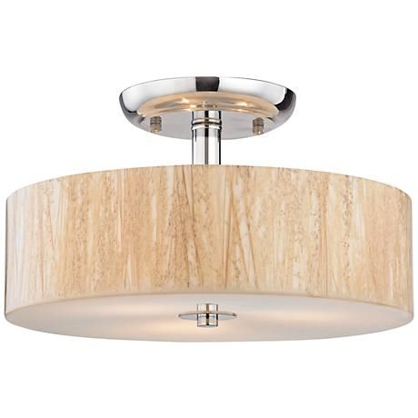 Modern organics 14w polished chrome 3 light ceiling light